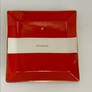 Kate Spade Lenox Be Dazzling tray New Red White